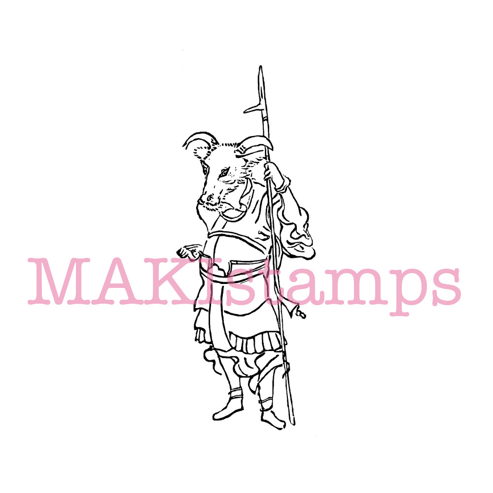 martial arts stamp MAKIstamps asia