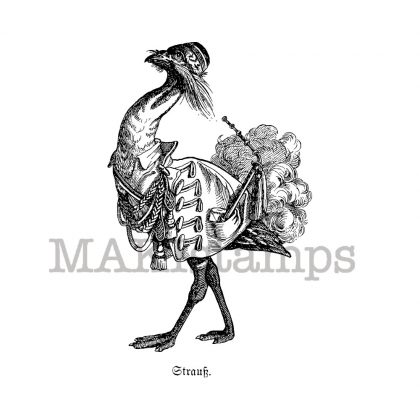 ostrich rubber stamp