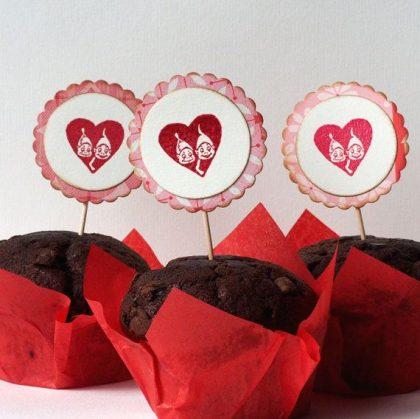 Herzstempel Brownies
