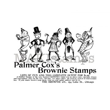 Palmer Cox Brownies rubber stamp MAKIstamps