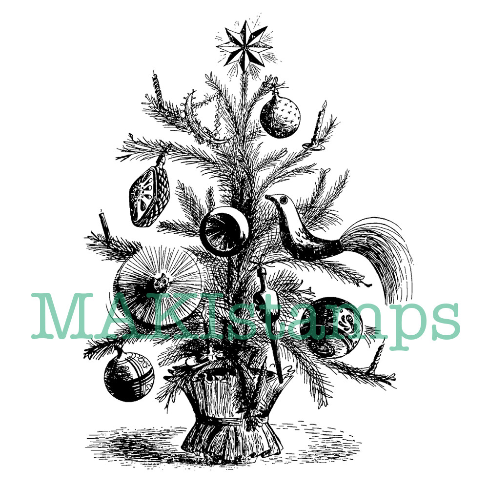 Tannenbaum Animation.Christmas Tree Rubber Stamp Product Tags Makistamps