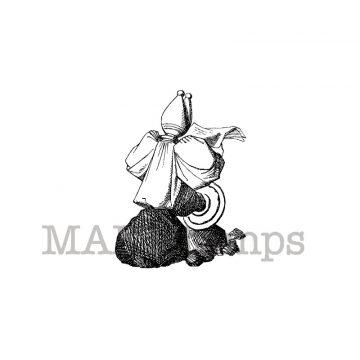 Alice in Wonderland rubber stamp makistamps