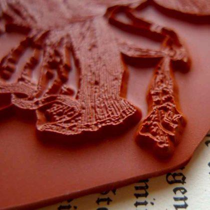 Grasshopper Ballerina stamp makistamps