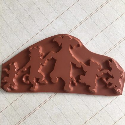 animal rubber stamp elephant