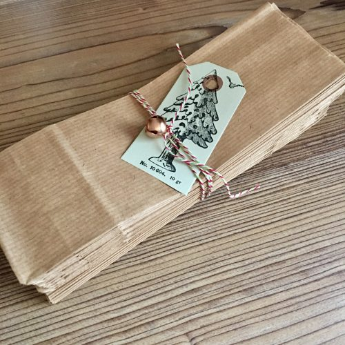 Kraft paper bags MAKIstamps DIY Advent Calendar