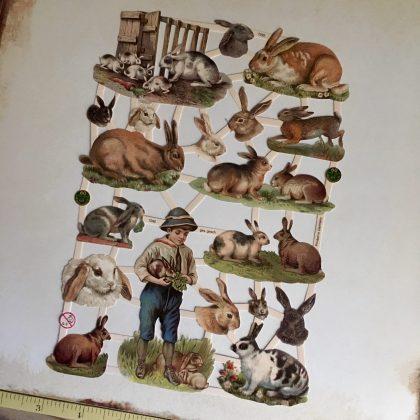 Paper scraps bunnies MAKIstamps