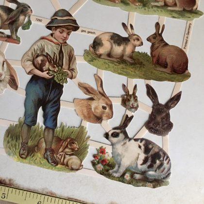 Easter paper scraps bunnies MAKIstamps