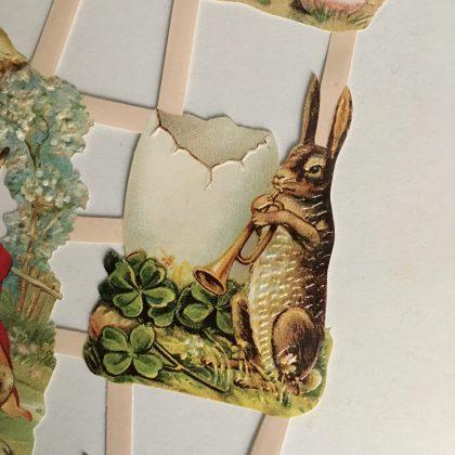 Victorian paper scraps Easter bunny MAKIstamps