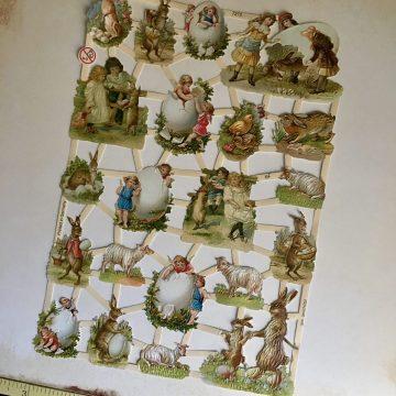 Vintage style victorian paper scraps MAKIstamps