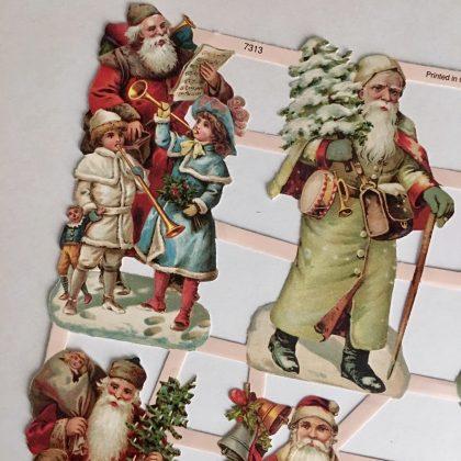 German paper scraps Christmas MAKIstamps