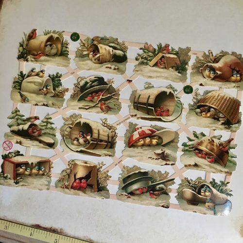 Vintage paper scraps MAKIstamps birds