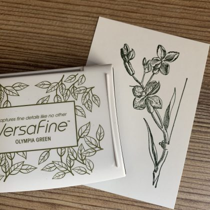 Green Versafine ink pad Olympia Green MAKIstamps rubber stamps