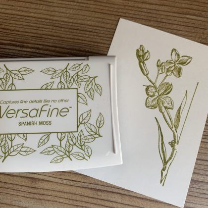 Green Versafine ink pad Spanish Moss MAKIstamps rubber stamps