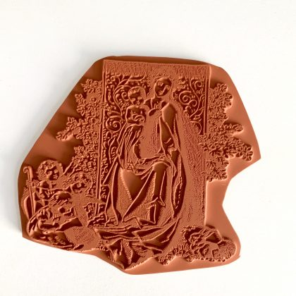 rubber stamp mary with child MAKIstamps