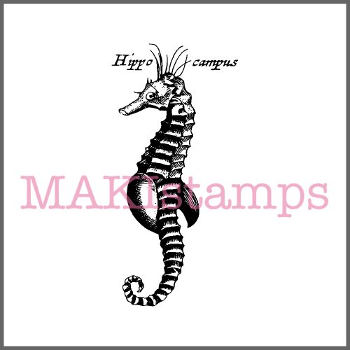 rubber stamp sea horse MAKIstamps