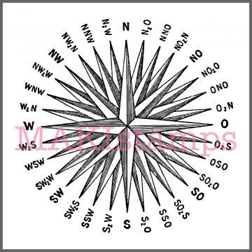 compass rose stamp navigation