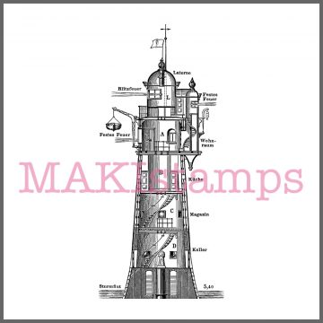 light house stamp lighthouse
