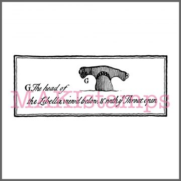 hammerhead shark rubber stamp