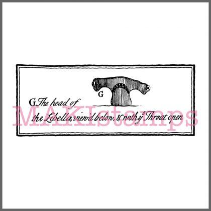 hammerhead shark rubber stamp MAKIstamps