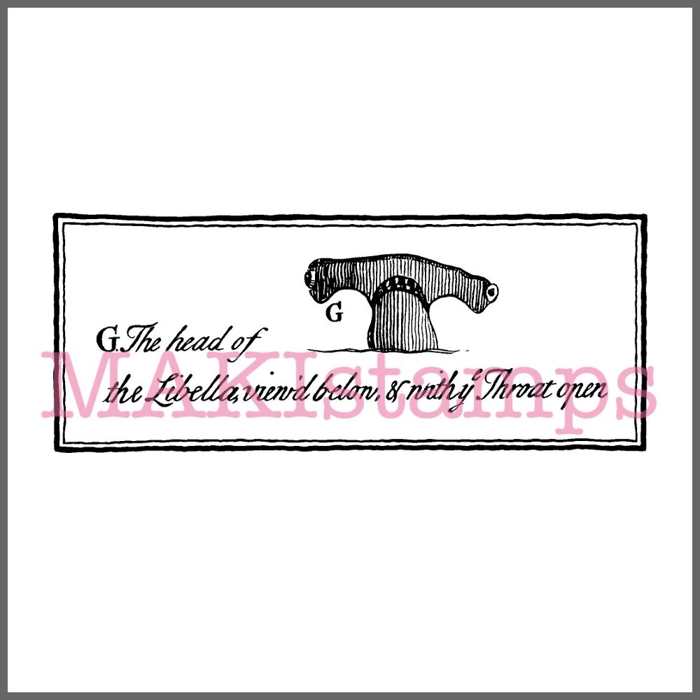 hammerhead shark rubber stamp