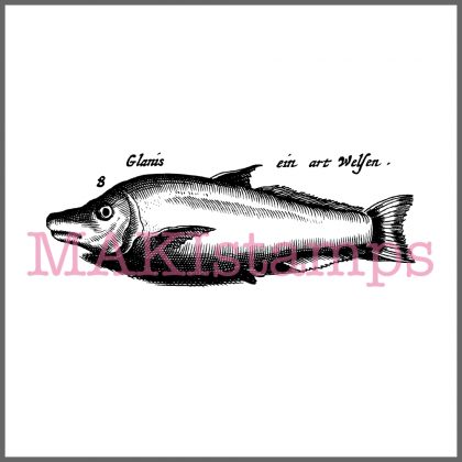 fishes rubber stamp
