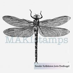 Stempel Libelle MAKIstamps rubber stamp dragon fly