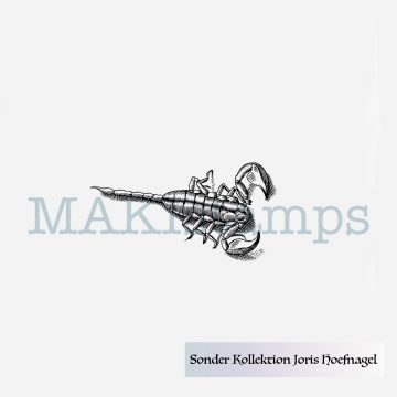 Scorpion stamp MAKIstamps Hoefnagel special collection rubber art stamps