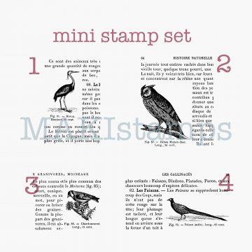 Encyclopedia rubber stamps birds MAKIstamps