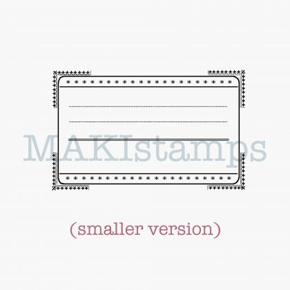 Label stamp MAKIstamps rubber art stamps