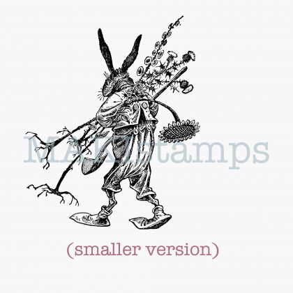 rubber stamp gardening hare MAKIstamps