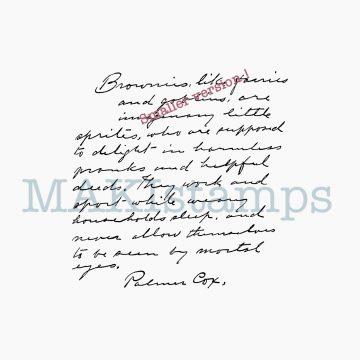 Stempel Handschrift Palmer Cox MAKIstamps
