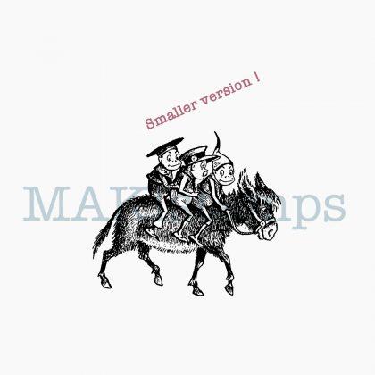 Stempel Brownies auf Esel MAKIstamps Motivstempel