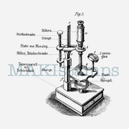 Rubber stamp microscope MAKIstamps