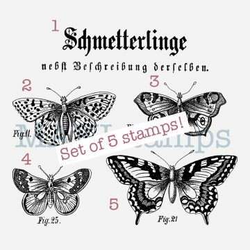 butterfly rubber stamp MAKIstamps
