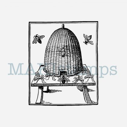 beehive rubber stamp bee MAKIstamps