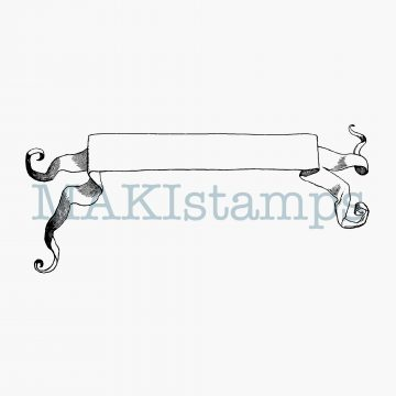 rubber stamp blank banner MAKIstamps