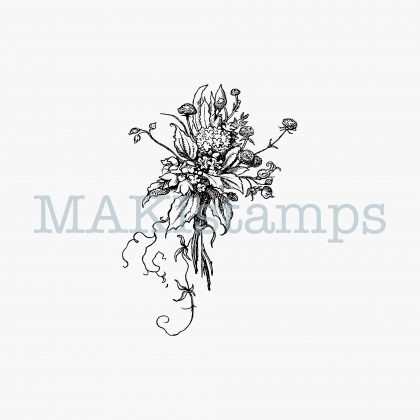 rubber stamp flowers MAKIstamps