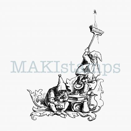 rubber stamp dwarfs MAKIstamps