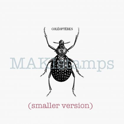 beetle stamp MAKIstamps rubber art stamps