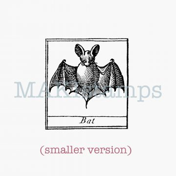 Halloween stamp bat MAKIstamps rubber art stamps