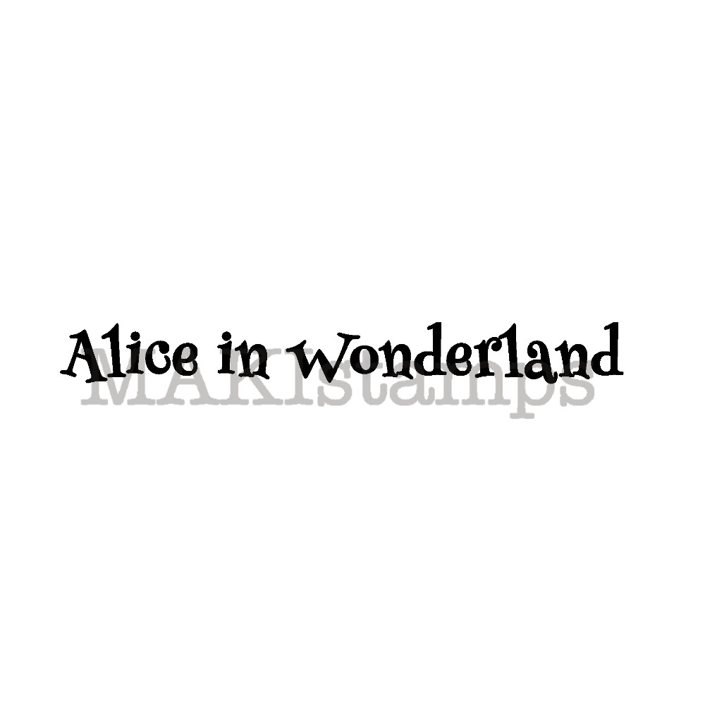 rubber art stamp Alice in Wonderland MAKIstamps