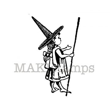 Little Brownie witch makistamps