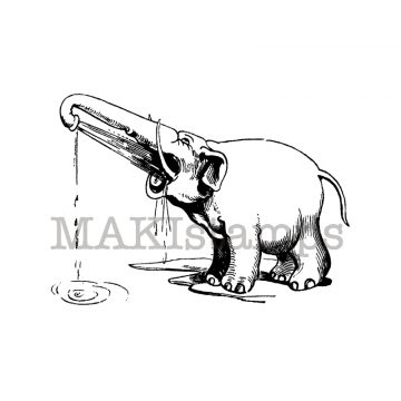 Elephant rubber stamp makistamps