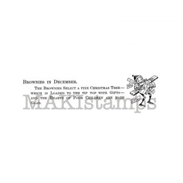 rubber art stamp Brownies MAKIstamps