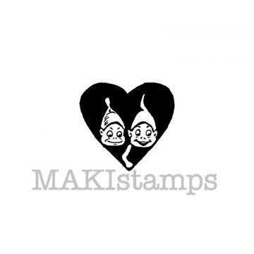 rubber stamp heart