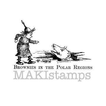 Rubber art stamp Brownie Palmer Cox MAKIstamps