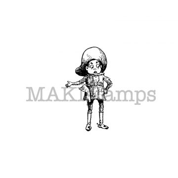 small Cowboy rubber stamp MAKIstamps