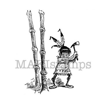 wild west rubber stamp MAKIstamps