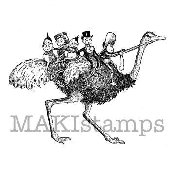 rubber stamp ostrich