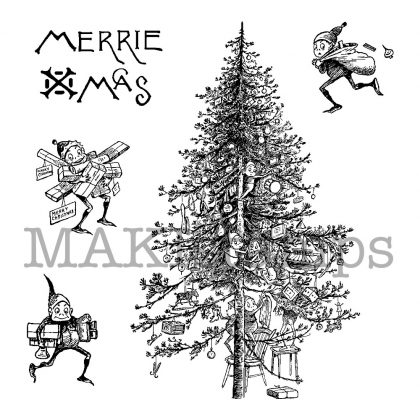 rubber stamp set christmas